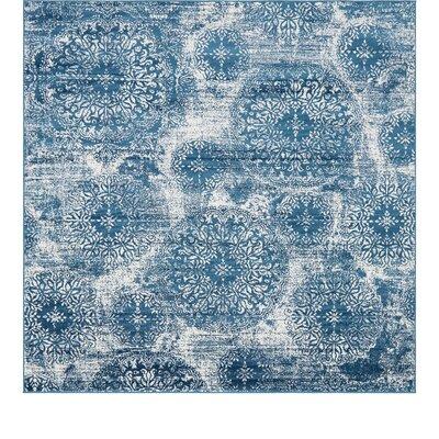 Brandt Blue Area Rug Rug Size: Square 8'