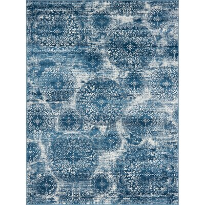 Teri Blue Area Rug Rug Size: Rectangle 8 x 11