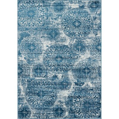 Brandt Blue Area Rug Rug Size: Rectangle 7' x 10'