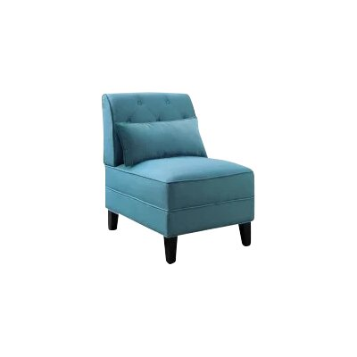Carrie Slipper Chair Upholstery: Teal