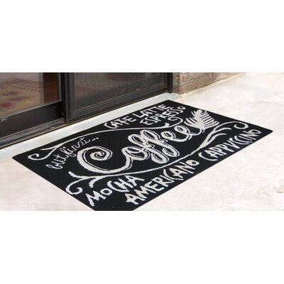 Colebrook Coffee Hand-Tufted Black/White Indoor/Outdoor Area Rug Rug Size: Rectangle 18 x 26