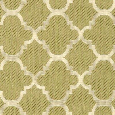 Short Green/Beige Indoor/Outdoor Area Rug Rug Size: Rectangle 2 x 37