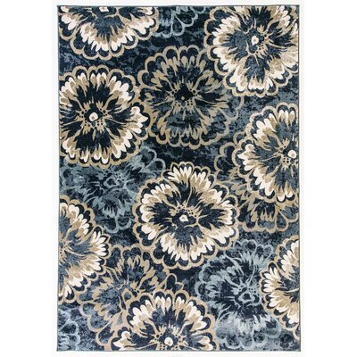 Amy Blue/Beige Area Rug Rug Size: Rectangle 2 x 37