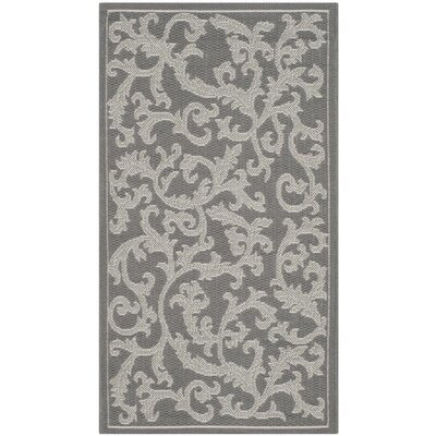 Short Anthracite Light Grey Area Rug Rug Size: Rectangle 2 x 37