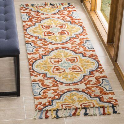 Lela Hand-Tufted Wool Beige Area Rug Rug Size: Rectangle 4 x 6