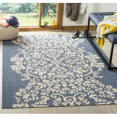 Joliet Tapestry Azurite Area Rug Rug Size: Rectangle 4 x 57