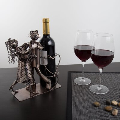 Galesburg Dancing Couple 1 Bottle Tabletop Wine Rack