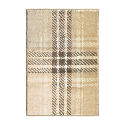 Ashley Beige Indoor Area Rug Rug Size: Rectangle 2'x3'