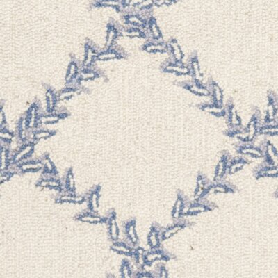 Martin Ivory & Blue Wilton Trellis Area Rug Rug Size: Rectangle 29 x 49