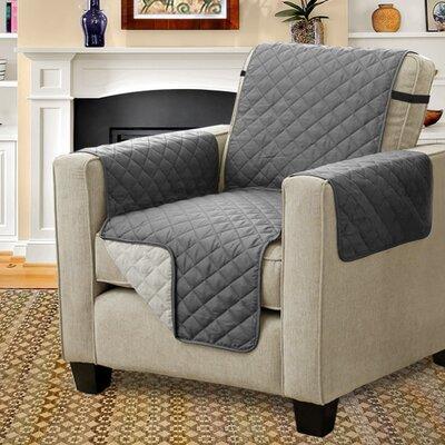 Diamond T-Cushion Armchair Slipcover Upholstery: Gray/Beige