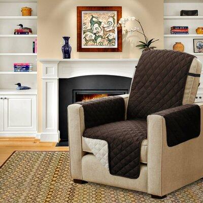 Diamond T-Cushion Armchair Slipcover Upholstery: Brown/Beige