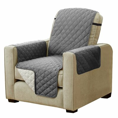 Diamond T-Cushion Armchair Slipcover Upholstery: Gray/Beige