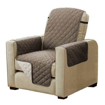 Diamond T-Cushion Armchair Slipcover Upholstery: Taupe/Beige