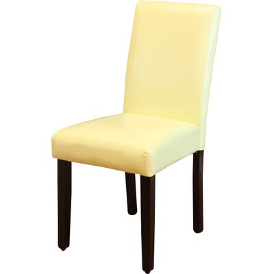 Donnellson Upholstered Dining Chair Upholstery Color: Wax Green
