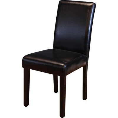 Donnellson Upholstered Dining Chair Upholstery Color: Black