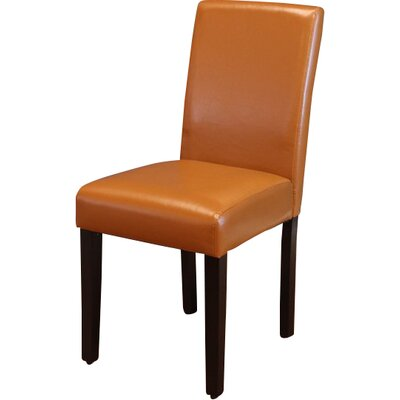 Donnellson Upholstered Dining Chair Upholstery Color: Worn Brown