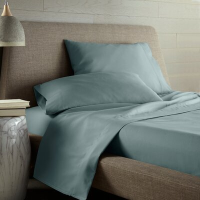 Dixon Print Microfiber Sheet Set Size: Twin, Color: Teal Solid