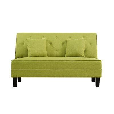 Hurst Tufted Loveseat Upholstery: Green
