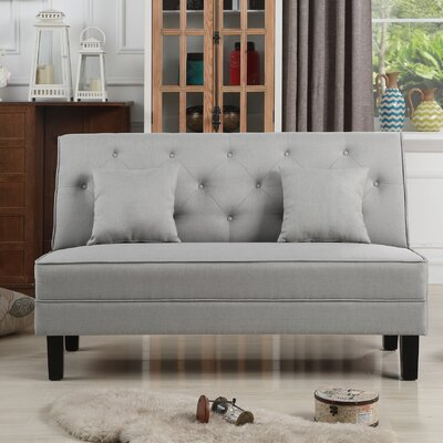 Hurst Tufted Loveseat Upholstery: Gray