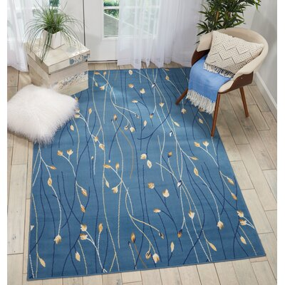 Folden Light Blue Area Rug Rug Size: Rectangle�710 x 910