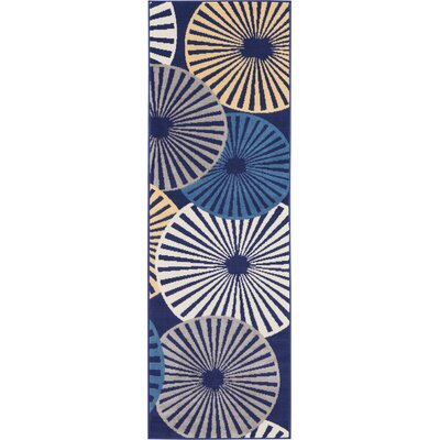 Folden Navy Area Rug Rug Size: Runner 23 x 76