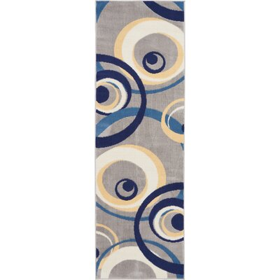 Folden Gray Area Rug Rug Size: Runner 23 x 76