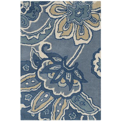 Armstrong Blue Rug Rug Size: Rectangle 2 x 3