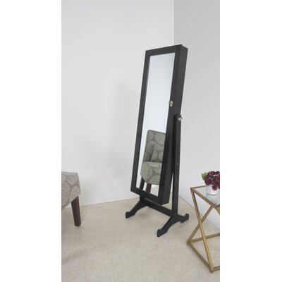 Stacy Jewelry Armoire Mirror Color: Black