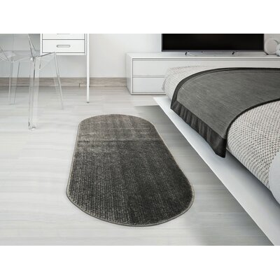 Gehl Oval Dark Gray Area Rug Rug Size: Oval 22 x 6