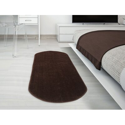 Gehl Oval Brown Area Rug Rug Size: Oval 22 x 6
