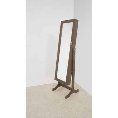 Stacy Jewelry Armoire Mirror Color: Brown