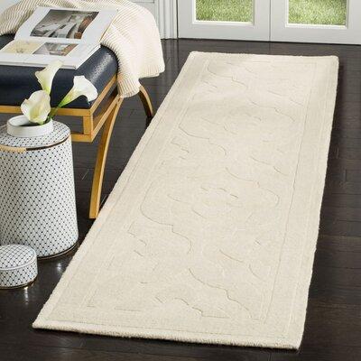 Trombetta Hand Tufted/Hand Loomed Wool Glass/Milk Area Rug Rug Size: Runner 23 x 8