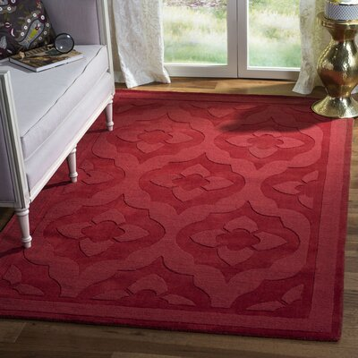 Trombetta Hand Tufted/Hand Loomed Wool Vermillion Area Rug Rug Size: Rectangle 5 x 8