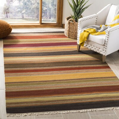 Cohen Hand-Woven Gold Area Rug Rug Size: Rectangle 5 x 8
