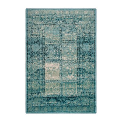Reanna Teal Area Rug Rug Size: Rectangle 2 x 3