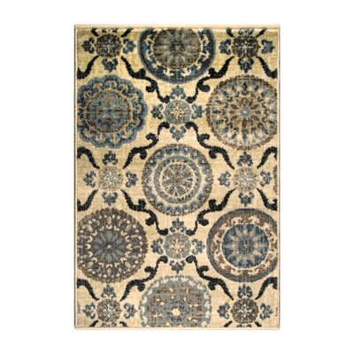 Benton Cream Area Rug Rug Size: Rectangle 2 x 3