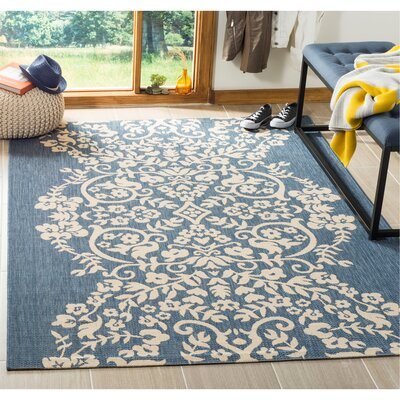 Joliet Tapestry Azurite Area Rug Rug Size: Rectangle 53 x 77