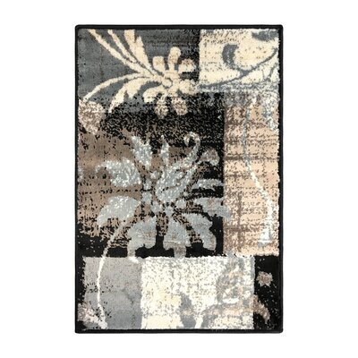 Yadira Brown/Gray Area Rug Rug Size: Rectangle 2 x 3