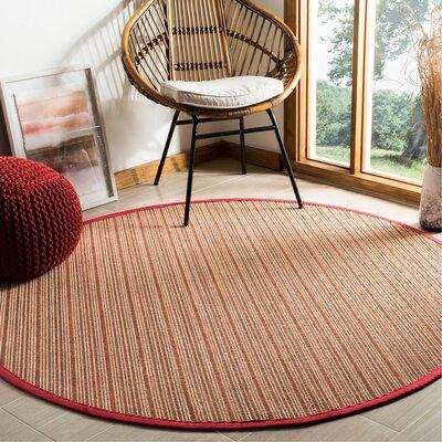 Galatia Brown Area Rug Rug Size: Round 6' x 6'