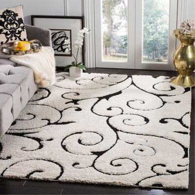 Binette Ivory Area Rug Rug Size: Rectangle 53 x 76