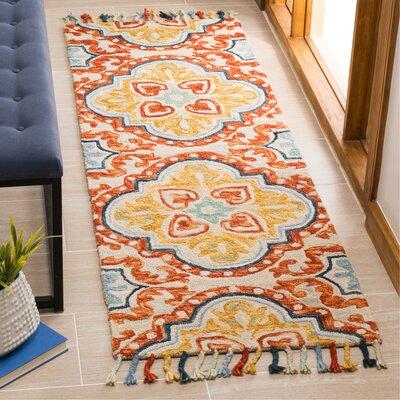 Lela Hand-Tufted Wool Beige Area Rug Rug Size: Rectangle 23 x 7