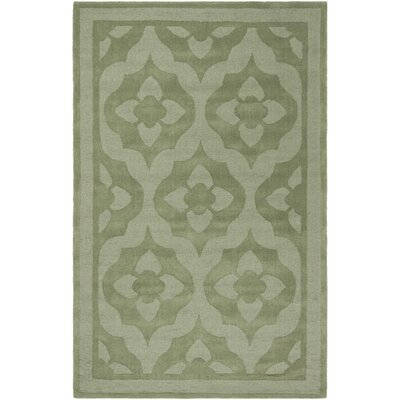 Trombetta Hand Tufted/Hand Loomed Wool Green Area Rug Rug Size: Rectangle 5 x 8