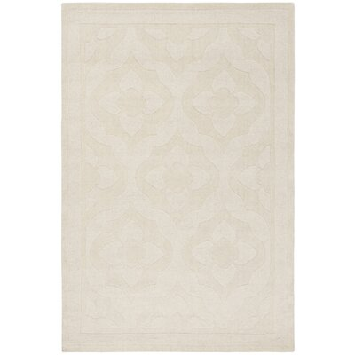 Trombetta Hand Tufted/Hand Loomed Wool Glass/Milk Area Rug Rug Size: Rectangle 4 x 6