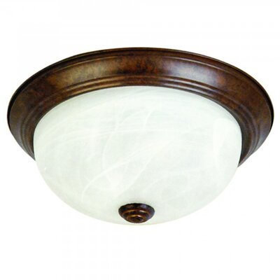Mielack 3-Light Flush Mount Size: Small