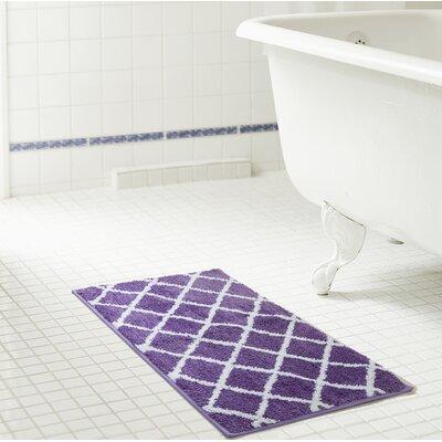 Jeanie Jacquard Microfiber Bath Rug Size: 17