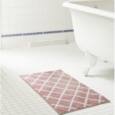 Jeanie Jacquard Microfiber Bath Rug Size: 20 W x 32 L, Color: Rose