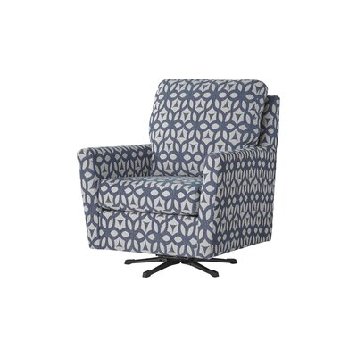 Wodome Swivel Armchair Upholstery: Forte Navy