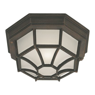 Vollmer 1-Light Flush Mount Finish: Painted Rust