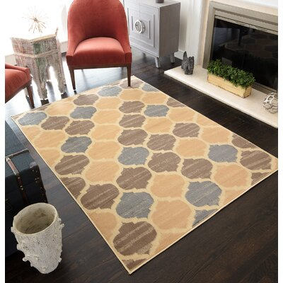 Truong Trellis Tan Area Rug Rug Size: Rectangle 5 x 7