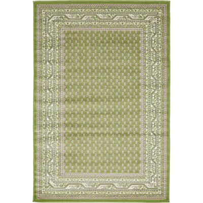 Gillam Geometric Green Area Rug Rug Size: Rectangle 4 x 6